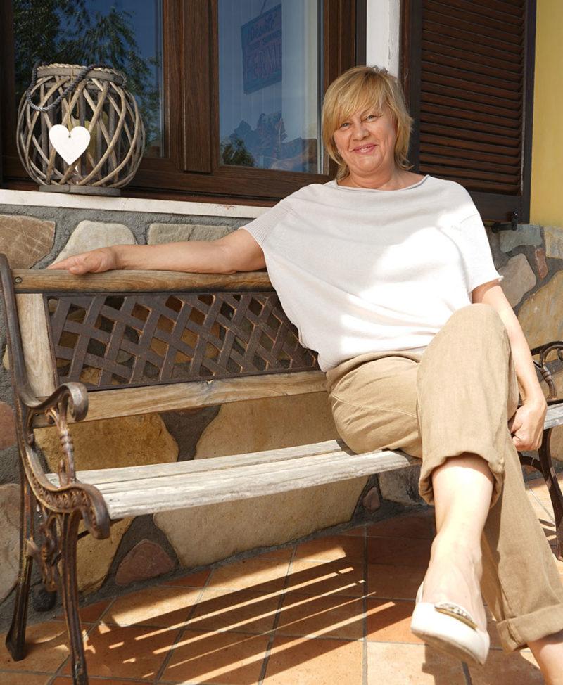 Irina gestore del B&B Antiche Pietre